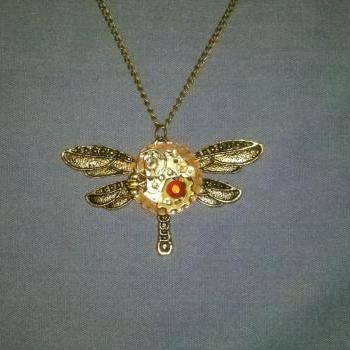 Steampunk Dragonfly Necklace